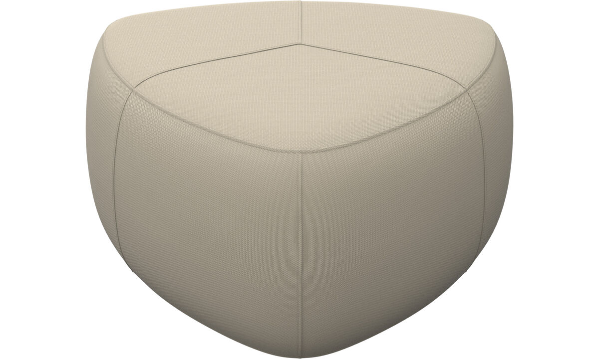 Ottomans - Bermuda ottoman - White - Fabric