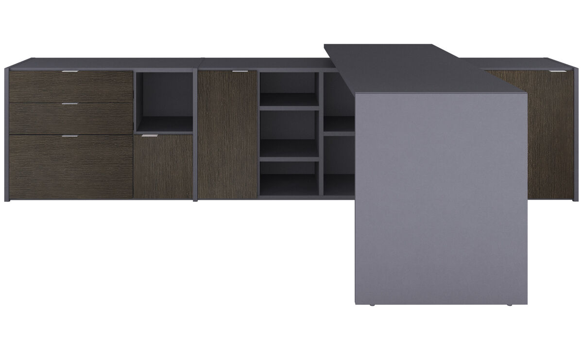 Wall Units - Copenhagen office system - Grey - Lacquered