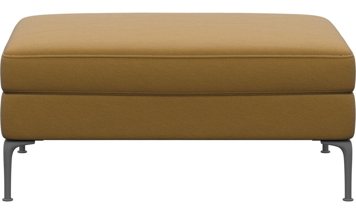 Footstools - Marseille footstool - Yellow - Fabric