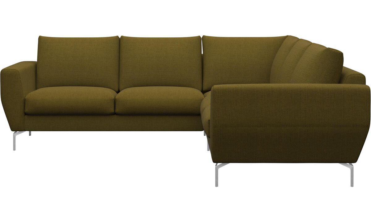 Corner sofas - Nice corner sofa - Yellow - Fabric