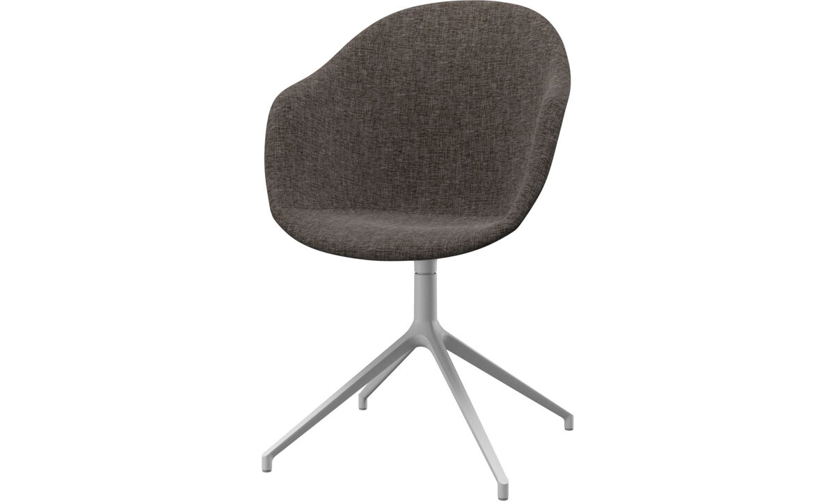 Home office chairs - Adelaide chair with swivel function - Brown - Fabric