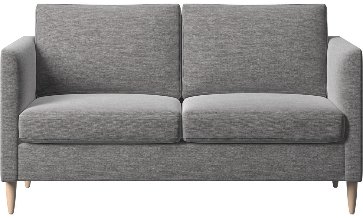 2-sitzer Sofas - Indivi Sofa - Grau - Stoff