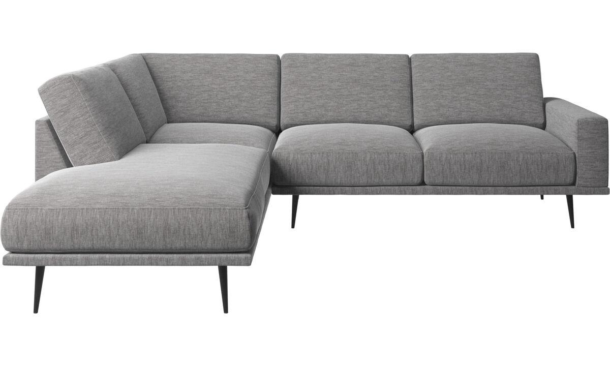Sofas with open end - Carlton divano con modulo lounge - Grigio - Tessuto