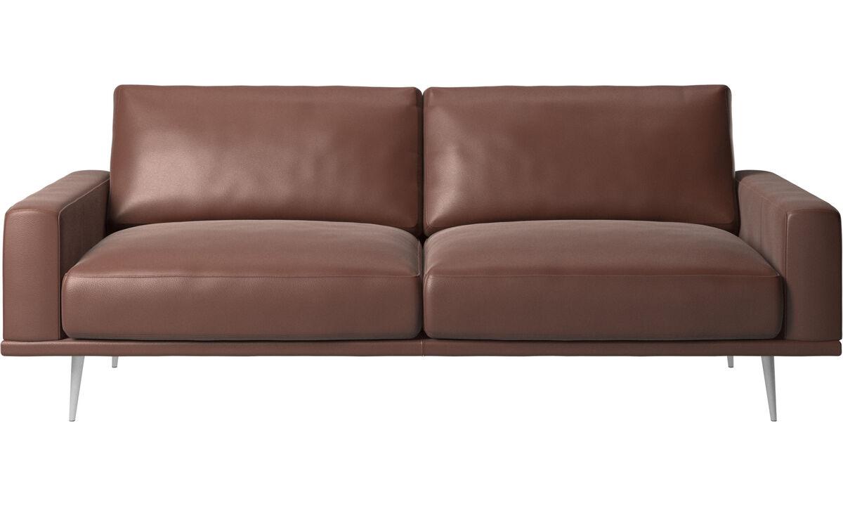 Sofás de 2 plazas y media - sofá Carlton - En marrón - Piel