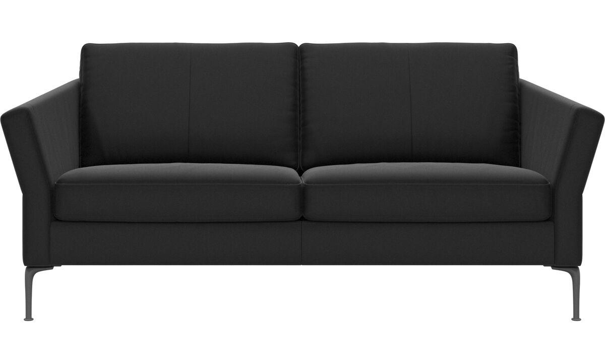 Sofás de 2 plazas y media - sofá Marseille - En negro - Piel