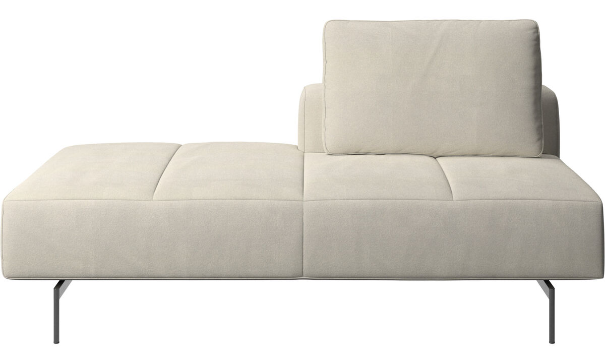 Sofas with open end - Amsterdam Iounging module for sofa, back rest right, open end left - White - Fabric