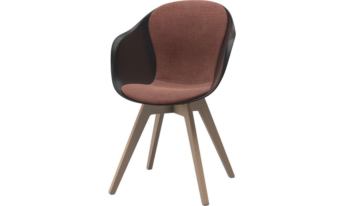 Cadeiras de jantar - Cadeira Adelaide - Vermelho - Tecido