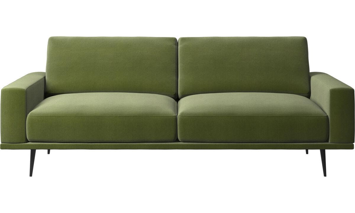 Sofás de 2 lugares e meio - Sofá Carlton - Verde - Tecido