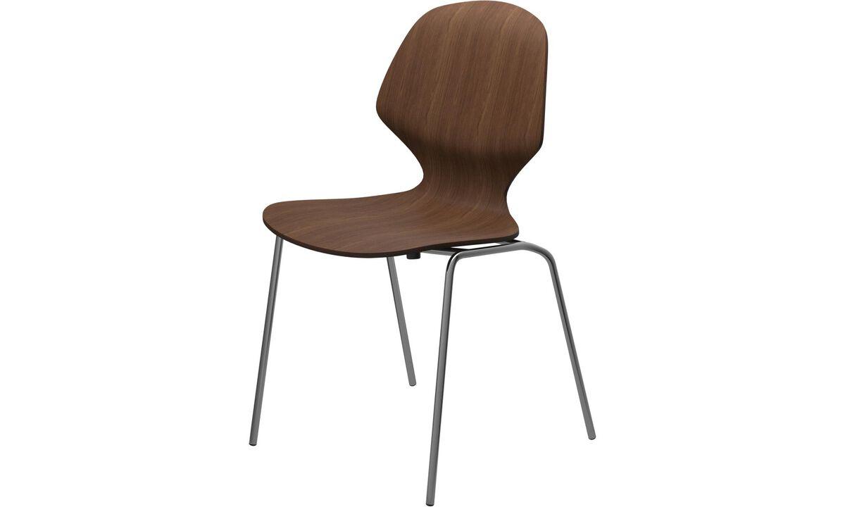 Καρέκλες τραπεζαρίας - καρέκλα Florence - Καφέ - Καρυδιά