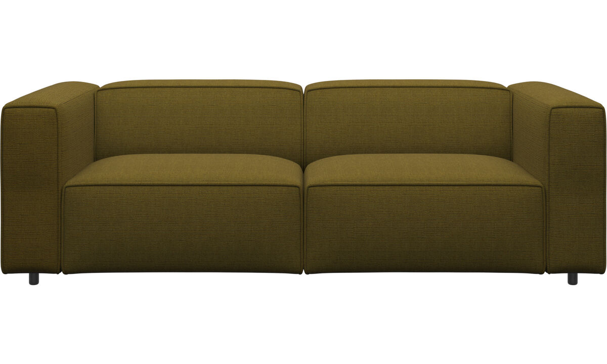 2.5 seater sofas - Carmo sofa - Yellow - Fabric