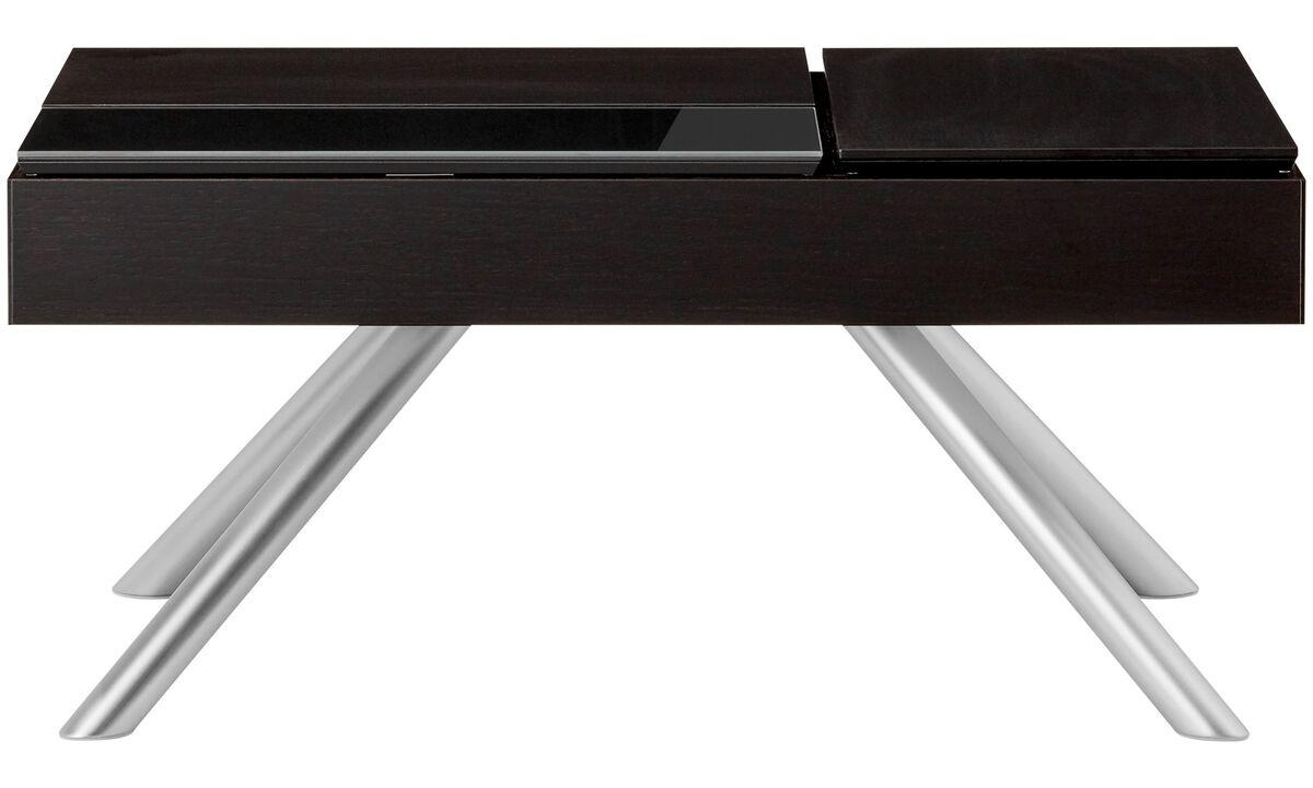 Tables basses - table basse multifonction Chiva avec espace de rangement - rectangulaire - Noir - Laqué