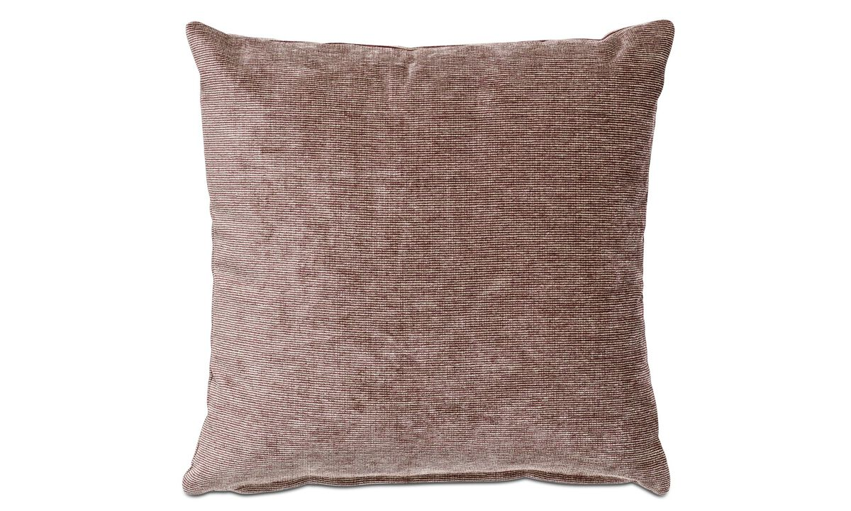 Velvet cushions - Velvet rough cushion - Red - Fabric