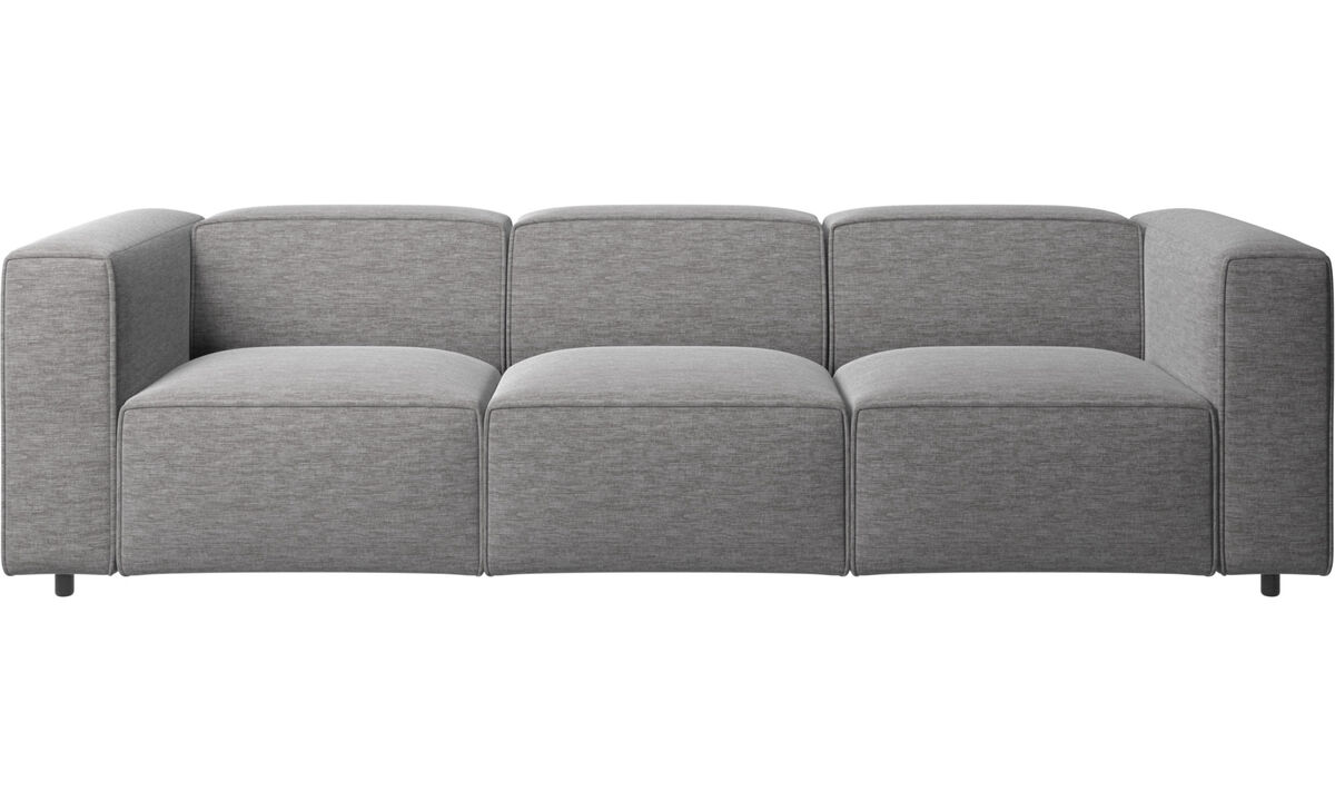 3 personers sofaer - Carmo sofa - Grå - Stof