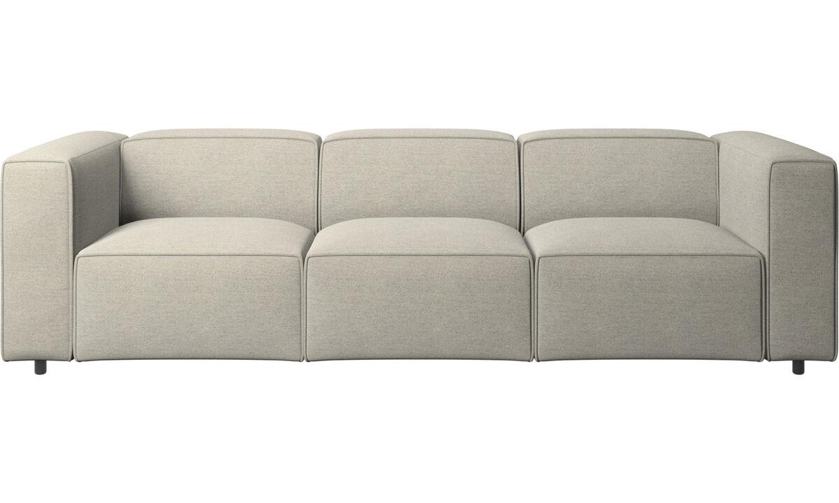 Sofás de 3 plazas - sofá Carmo - En beige - Tela