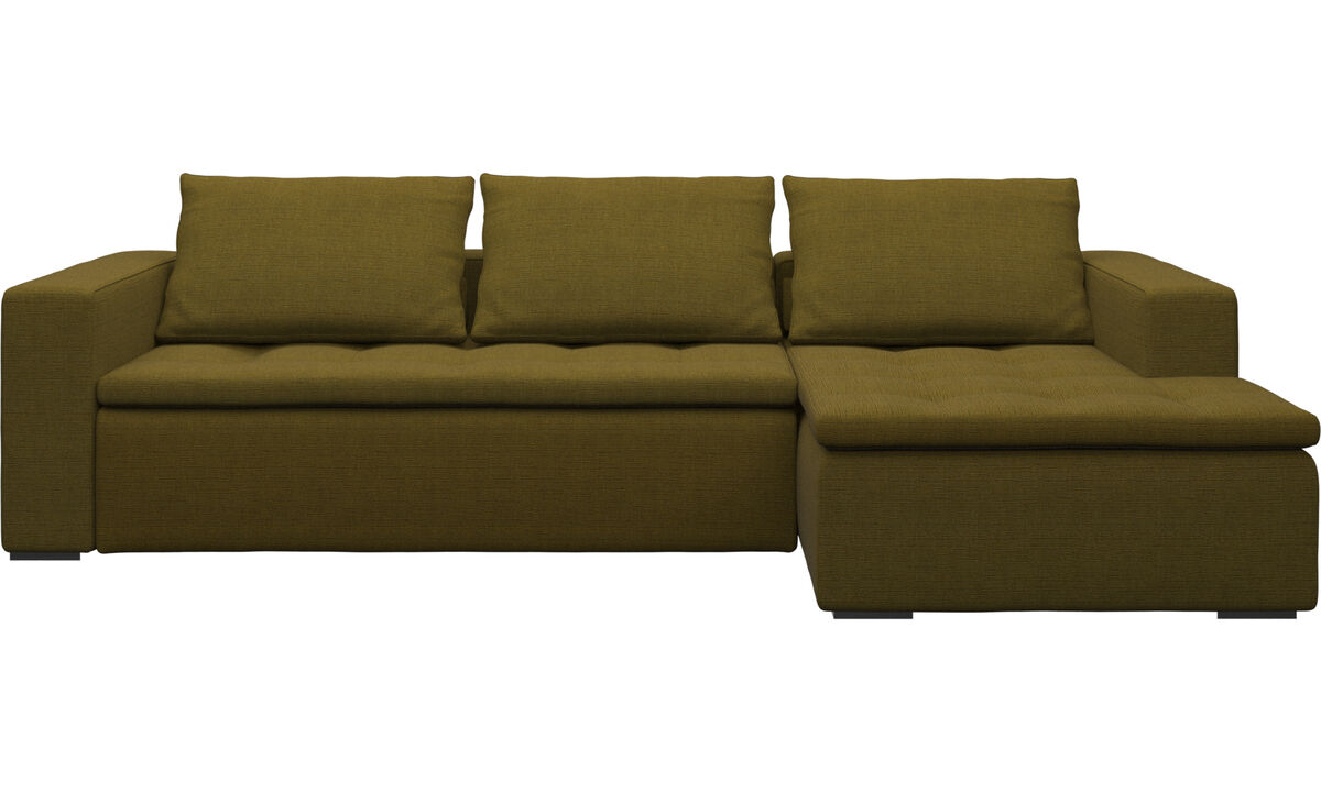 Chaise lounge sofas - Mezzo sofa with resting unit - Yellow - Fabric