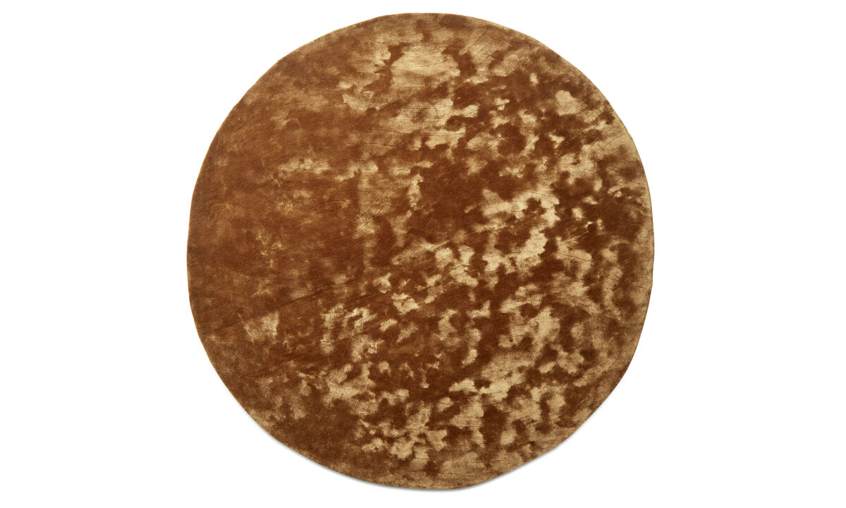 Round rugs - Shanghai rug - round - Yellow - Fabric