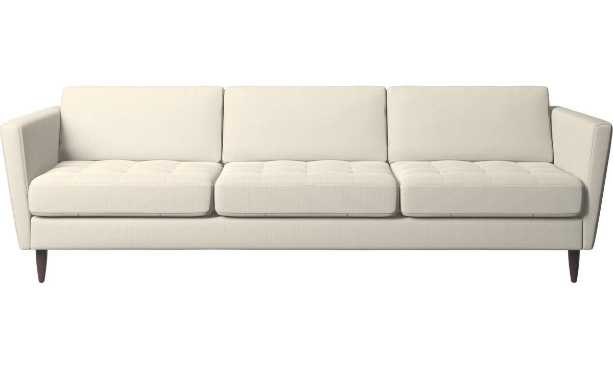 Nouveaux designs - canapé Osaka, assise capitonnée - Blanc - Tissu