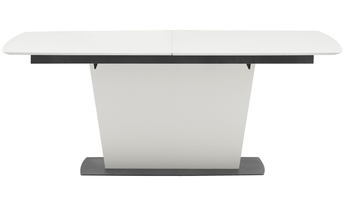 New designs - Milano table with supplementary tabletop - square - White - Lacquered