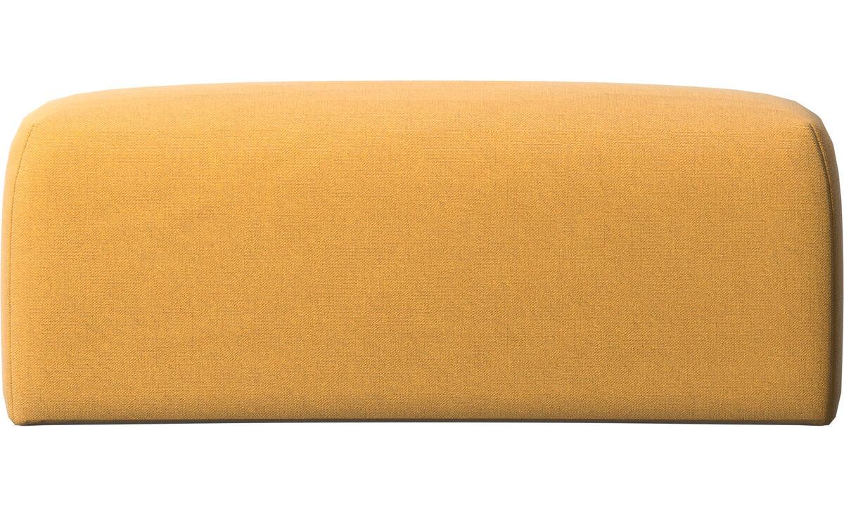 Accesorios para muebles - Cojin de respaldar Atlanta - En amarillo - Tela