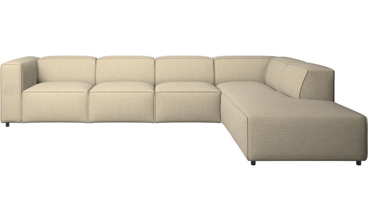 Sofas with open end - Carmo divano ad angolo con modulo relax - Marrone - Tessuto