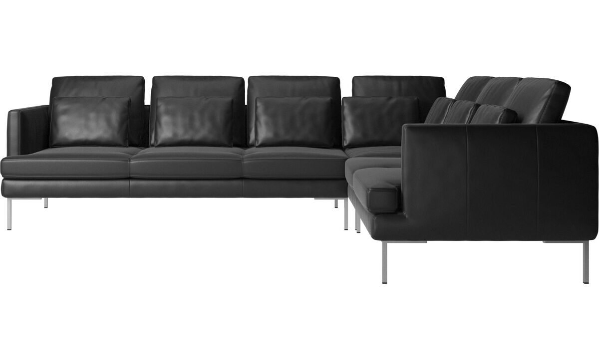 Corner sofas - Istra 2 corner sofa - Black - Leather