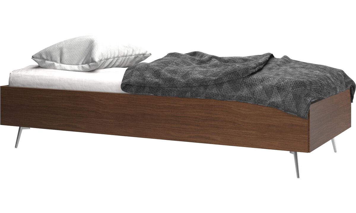 Beds - Lugano bed, excl. mattress - Brown - Walnut