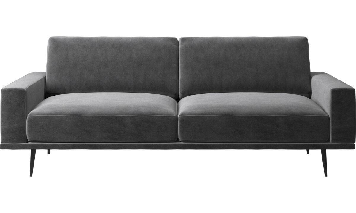 2.5 seater sofas - Carlton sofa - Gray - Fabric