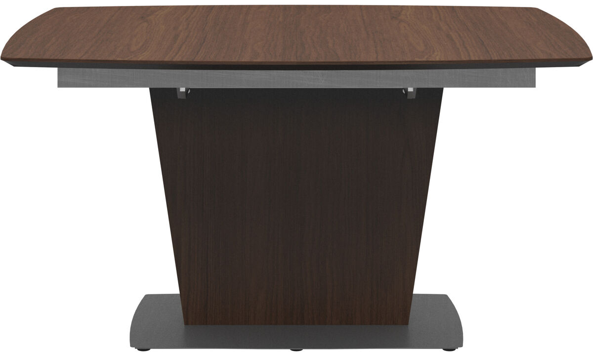 Dining tables - Milano table with supplementary tabletop - rectangular - Brown - Walnut