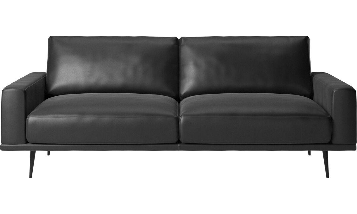2.5 seater sofas - Carlton sofa - Black - Leather