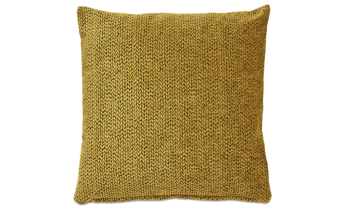 Patterned cushions - Chain cushion - Yellow - Fabric