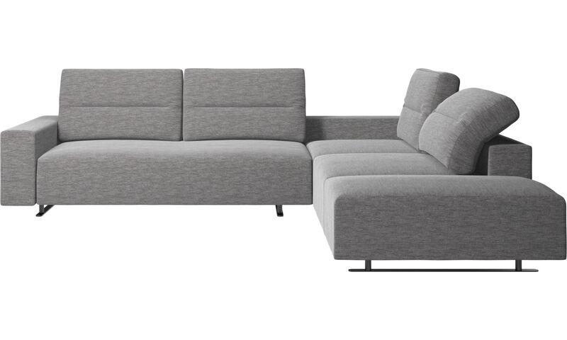lounge sofas hampton ecksofa mit verstellbarem r cken und loungemodul boconcept. Black Bedroom Furniture Sets. Home Design Ideas