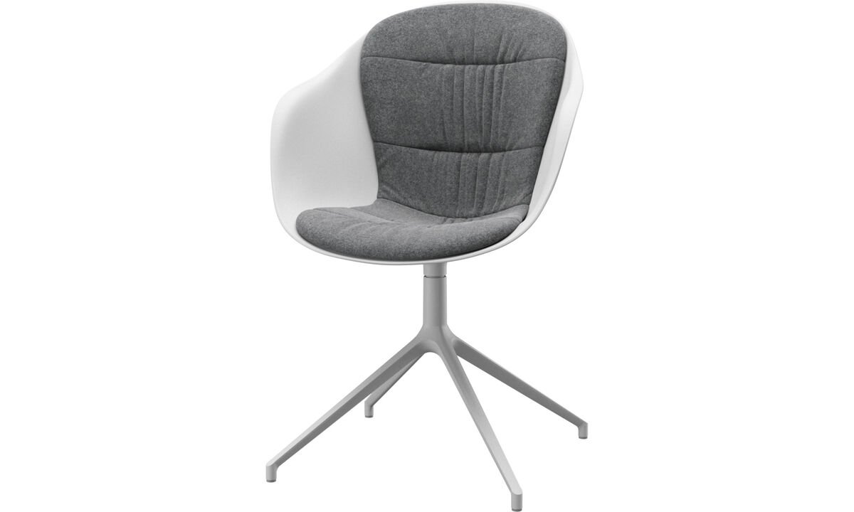 Office chairs - Adelaide chair with swivel function - Gray - Fabric