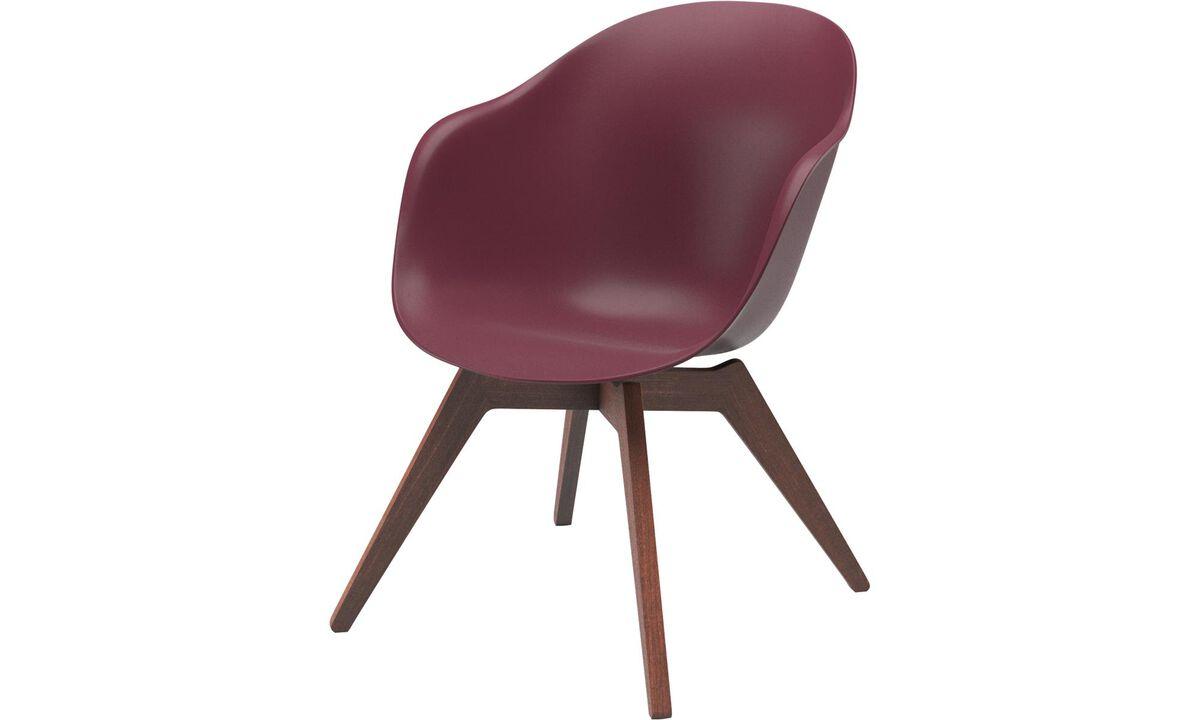 Cadeiras de área externa - Cadeira Adelaide Lounge (para utilização no interior e exterior) - Vermelho - Plástico