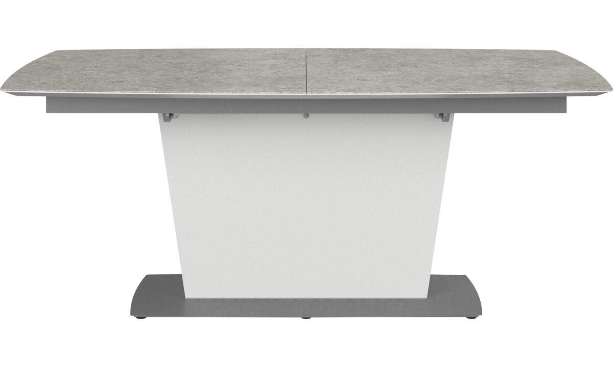 Tables de salle à manger - table Milano avec allonge - rectangulaire - Gris - Céramique