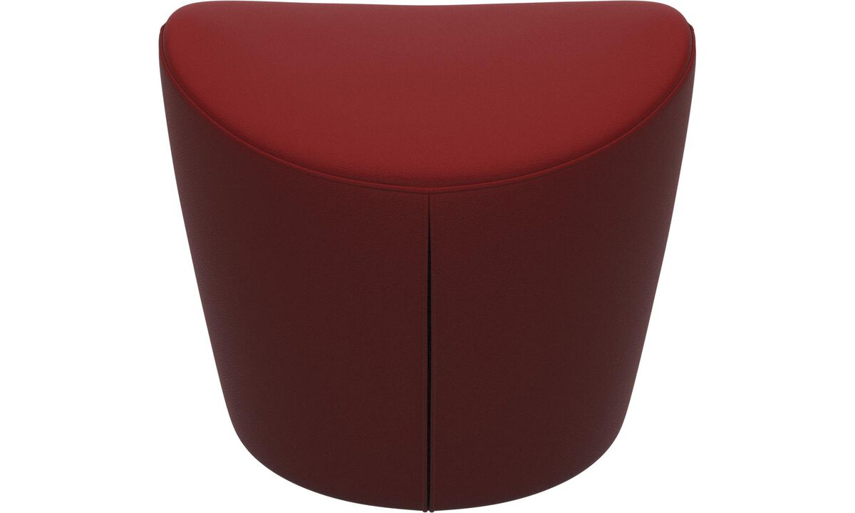 Footstools - Rico footstool - Red - Leather