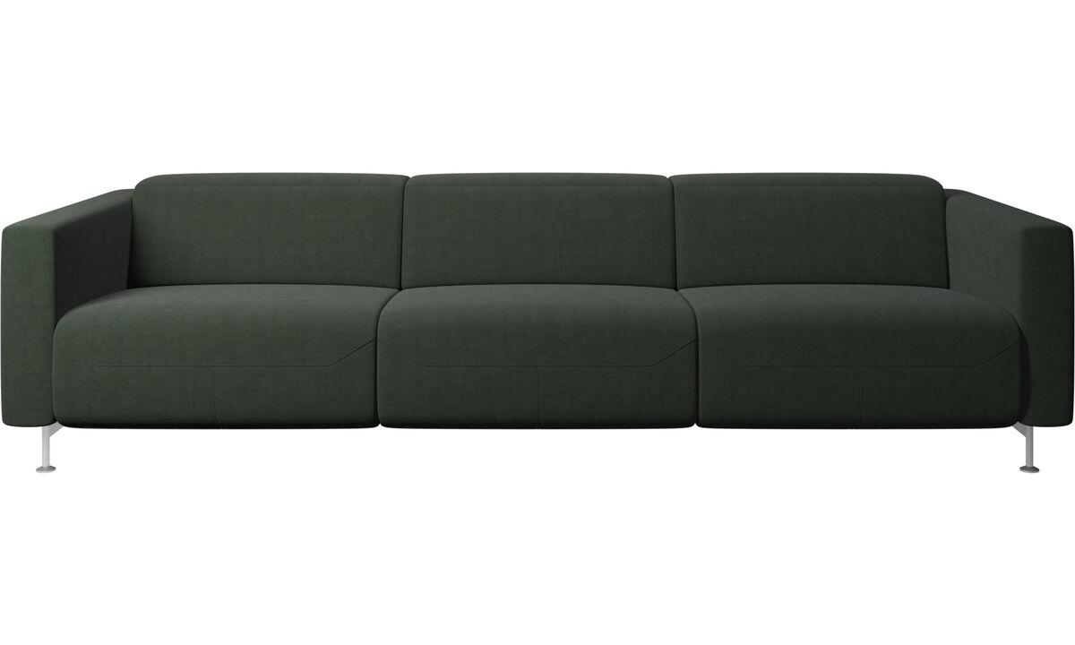 Sofás de 3 lugares - Sofá reclinável Parma - Verde - Tecido