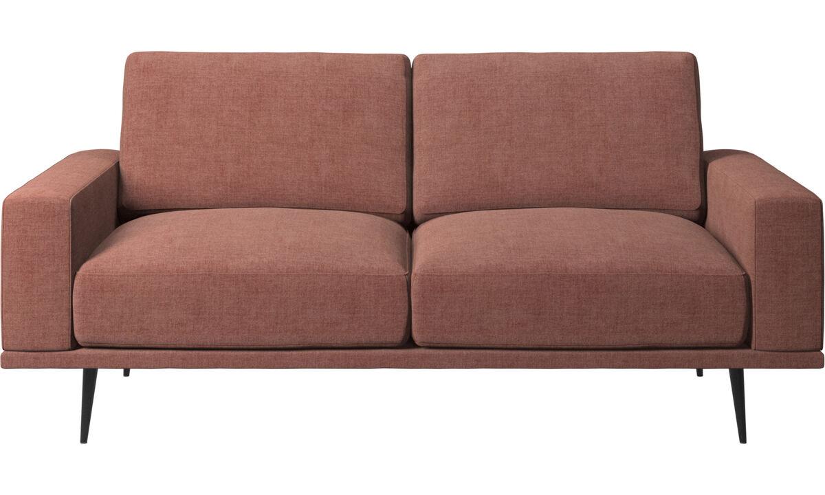 Sofás de 2 lugares - Sofá Carlton - Vermelho - Tecido