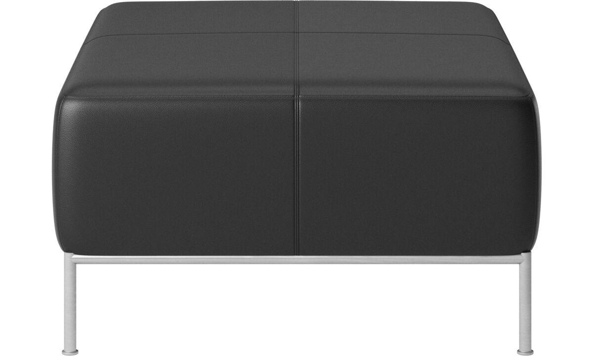 Modular sofas - puf Miami - Black - Leather