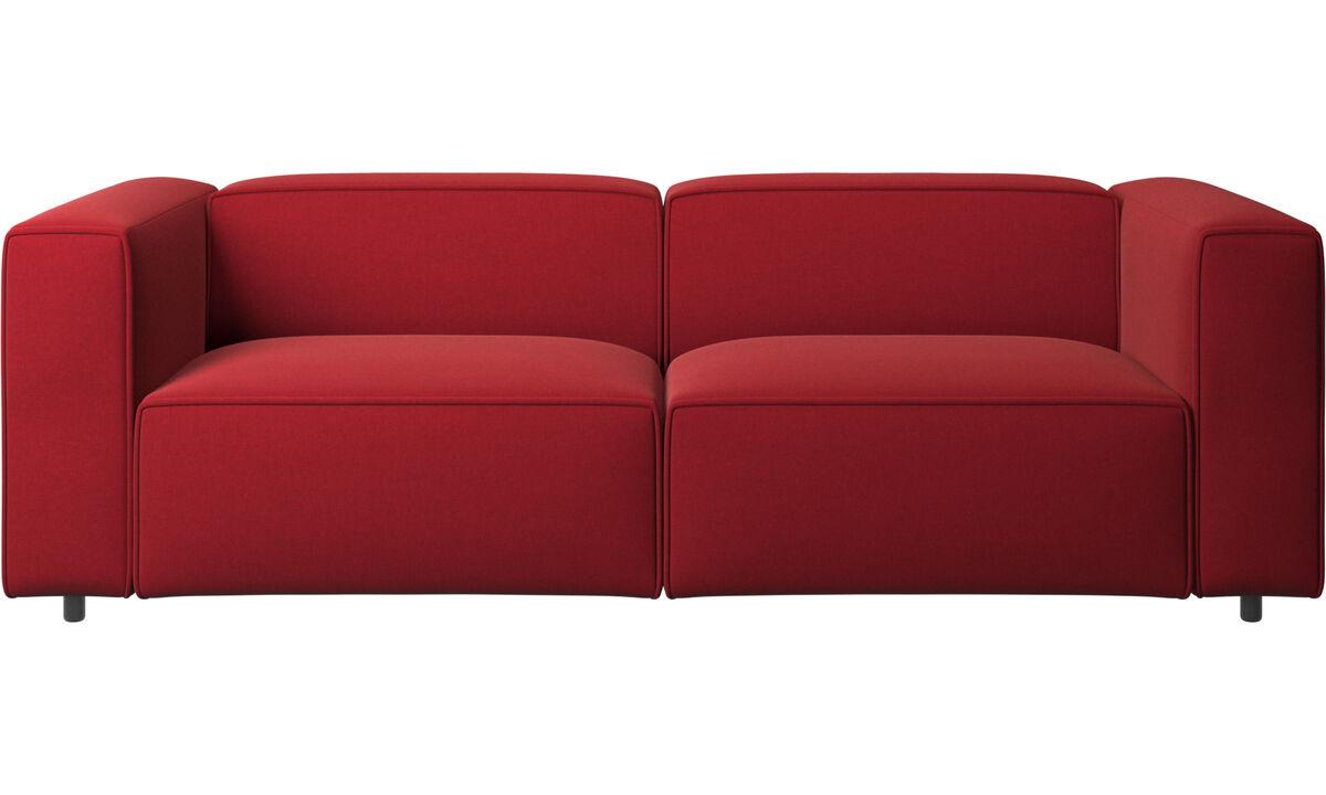 Sofás reclinables - Sofá Carmo con movimiento - Rojo - Tela