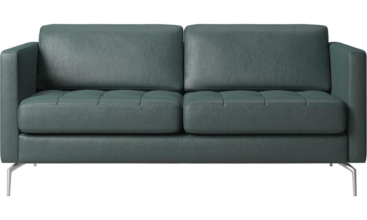 2 seater sofas - Osaka divano, seduta trapuntata - Verde - Tessuto