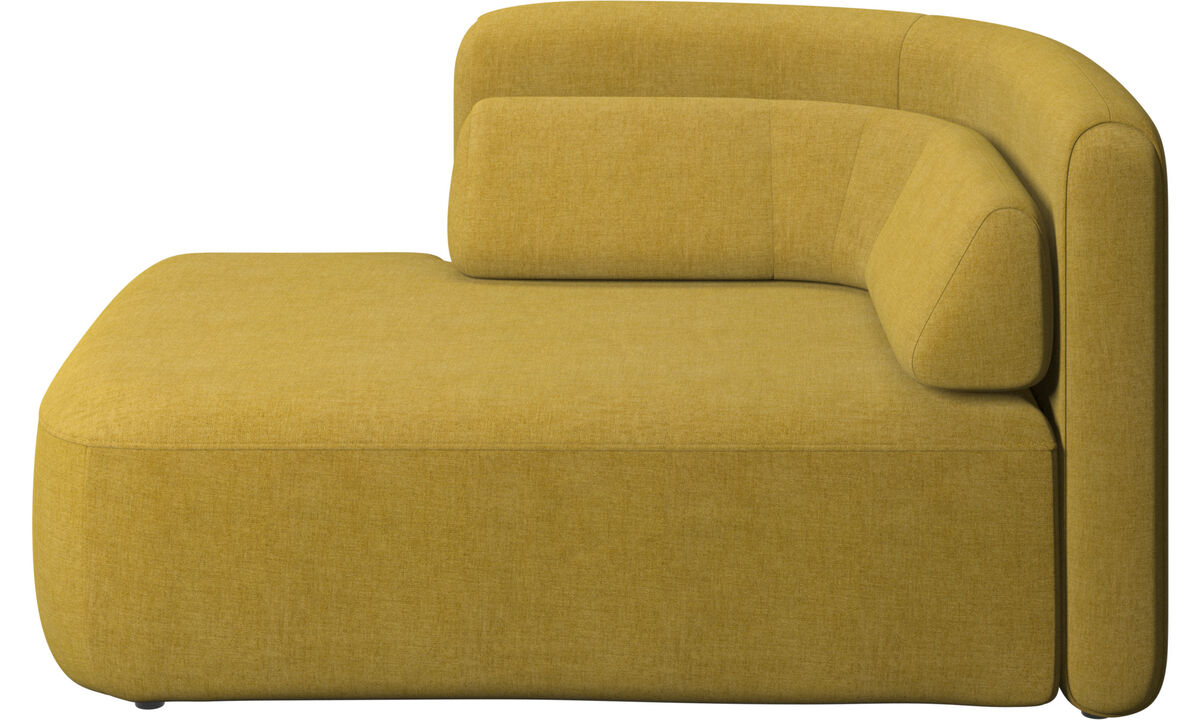 Modular sofas - Ottawa 1,5 seater open end left side - Yellow - Fabric