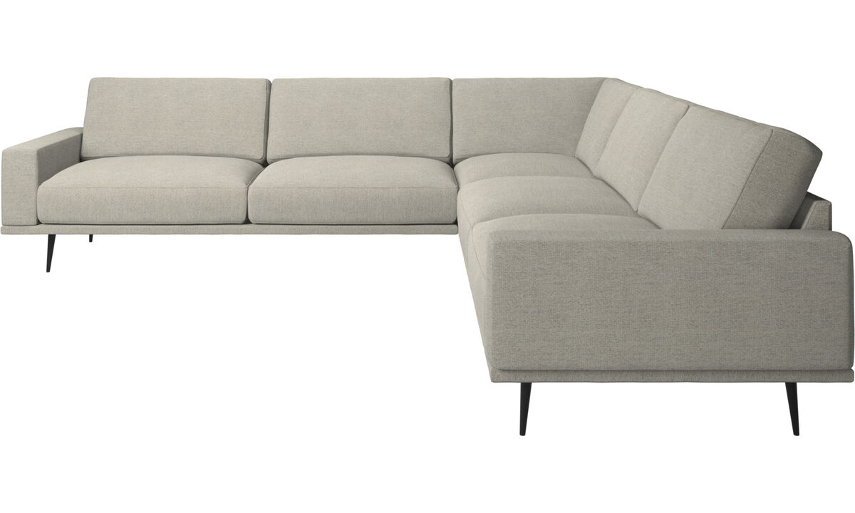 Corner sofas - Carlton corner sofa - Beige - Fabric