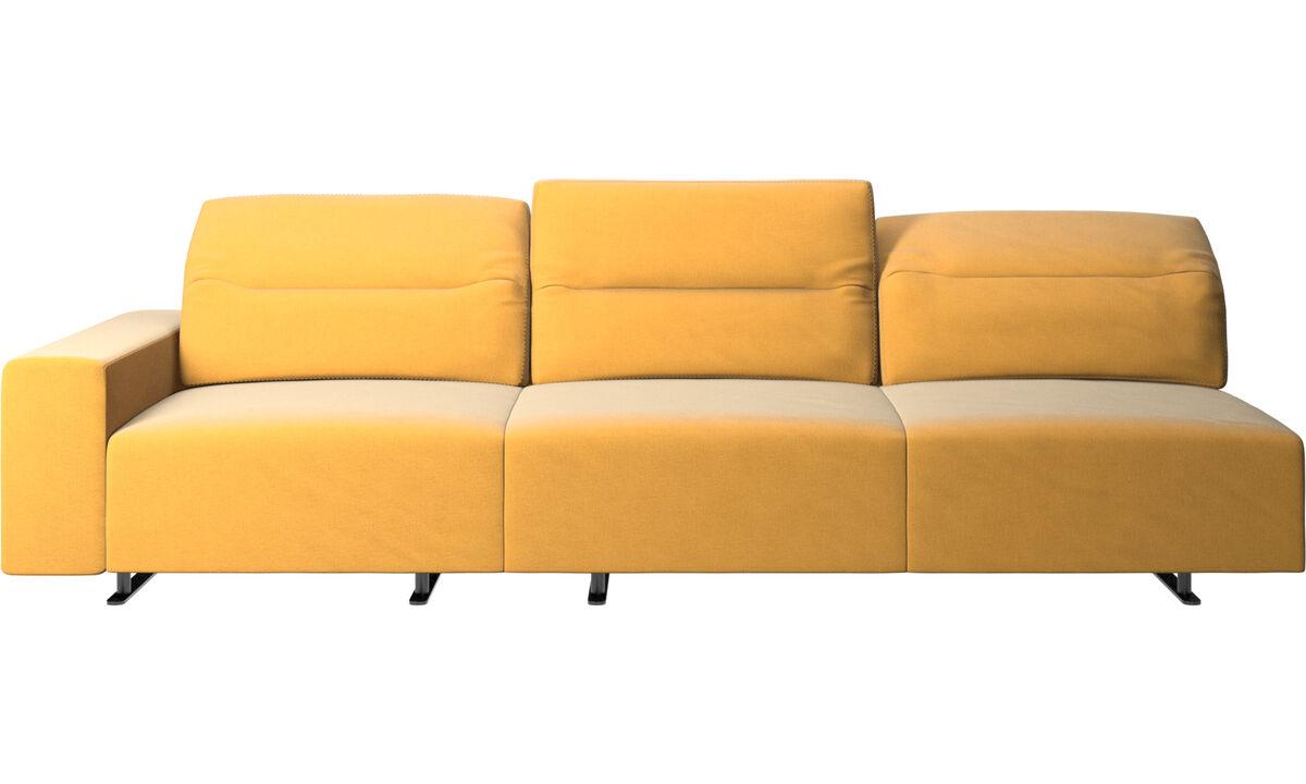 3-sitzer Sofas - Hampton Sofa mit verstellbarer Rückenlehne - Gelb - Stoff