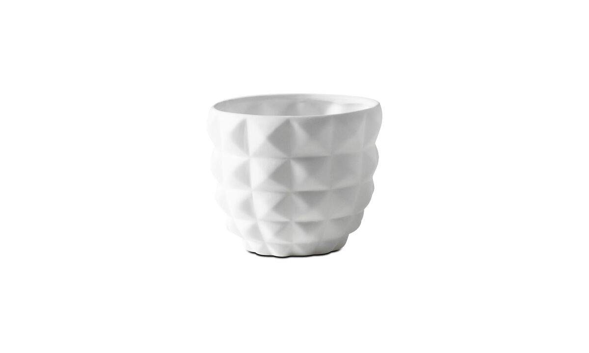 Candle holders - 3D structure tealight holder, Refined - White - Ceramic