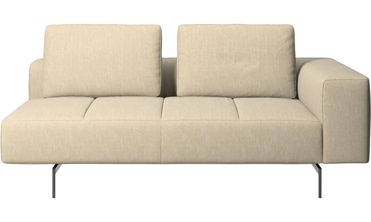 2.5 seater sofas - Amsterdam 2.5 seating module, armrest right - Brown - Fabric
