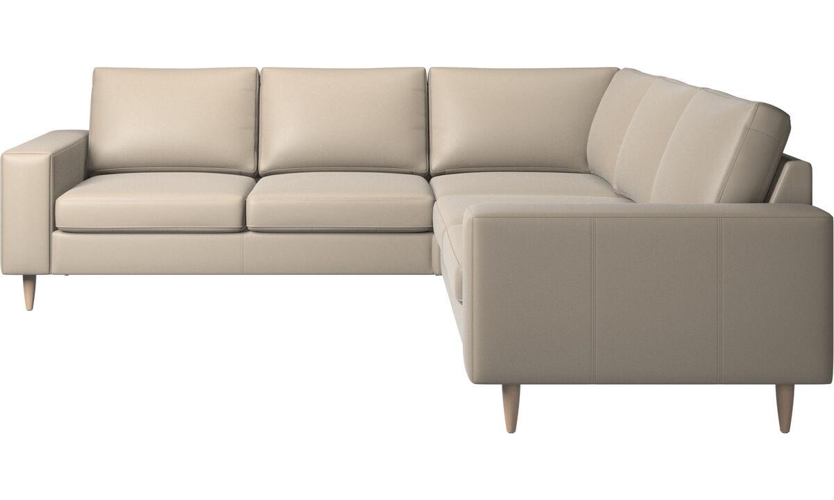 Corner sofas - Indivi corner sofa - Beige - Leather
