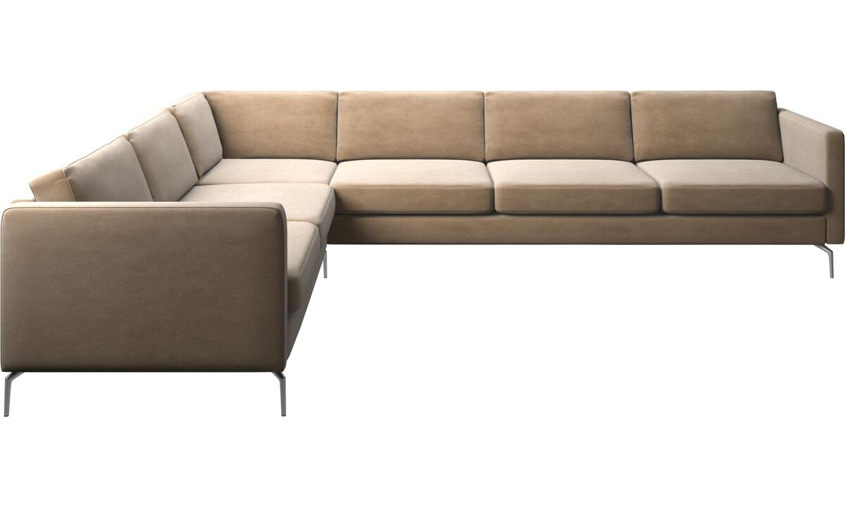 Corner sofas - Osaka corner sofa, regular seat - Beige - Fabric