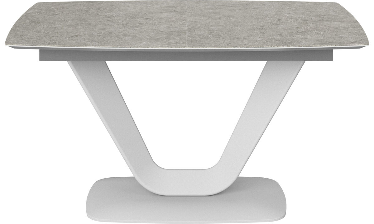 Dining tables - Alicante table with supplementary tabletop - rectangular - Grey - Ceramic