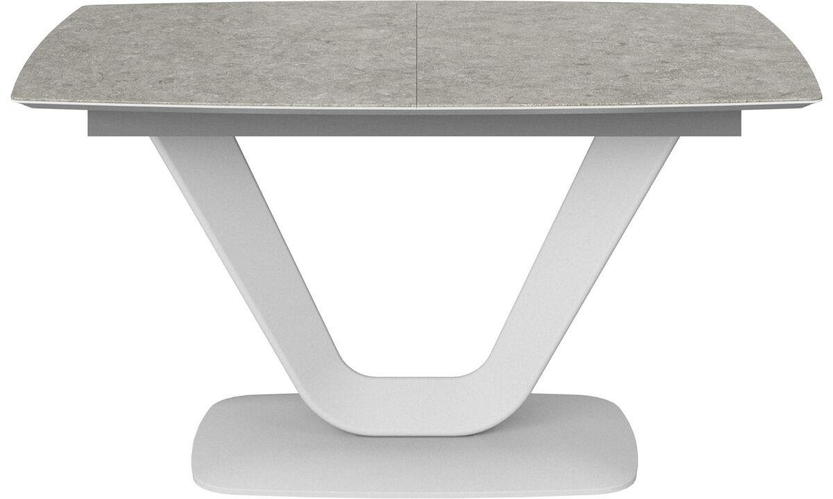 Eetkamertafel - Alicante tafel met extra tafelblad - rechthoekig - Grijs - Keramiek
