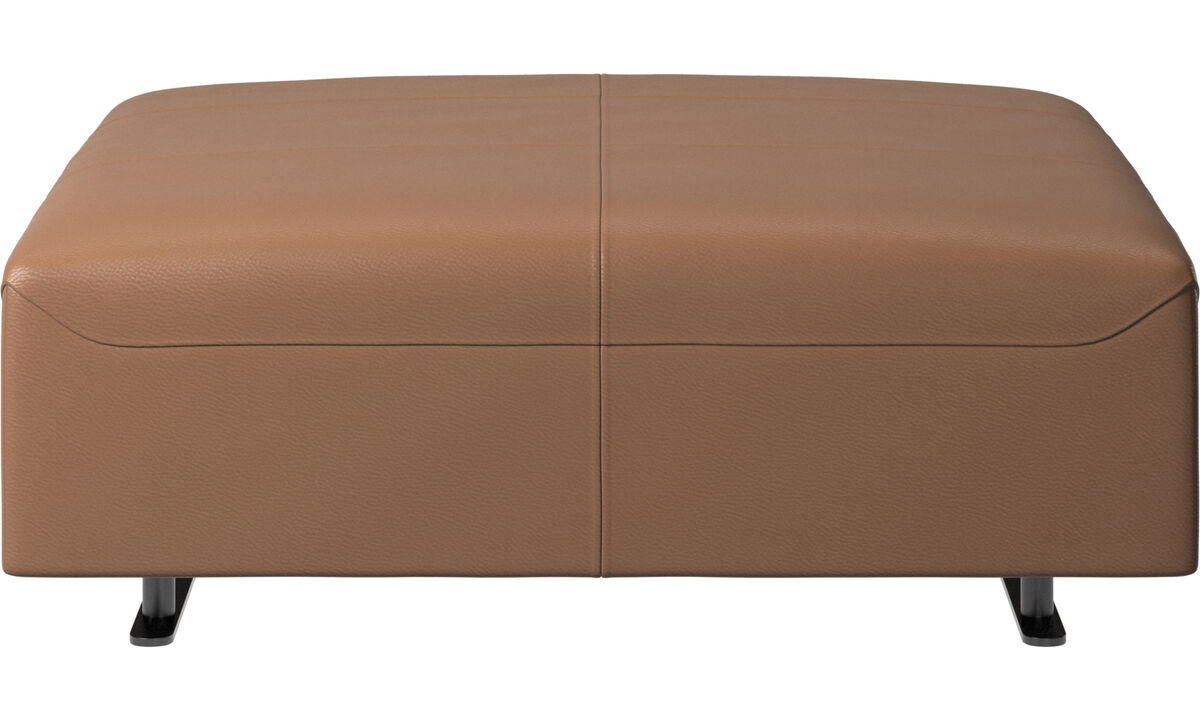 Footstools - Hampton pouf - Brown - Leather